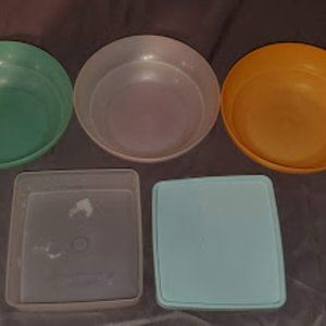 3 Tupperware Cereal Bowls 1 Tupperware Sandwich Bo